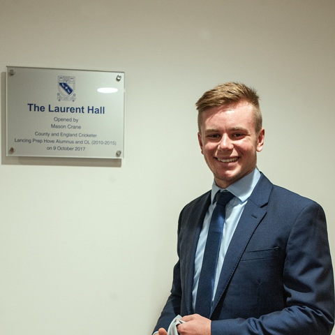 Mason Crane opens the new Laurent Hall at Lancing Prep Hove