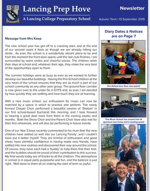 The first LPH newsletter of the new School Year
