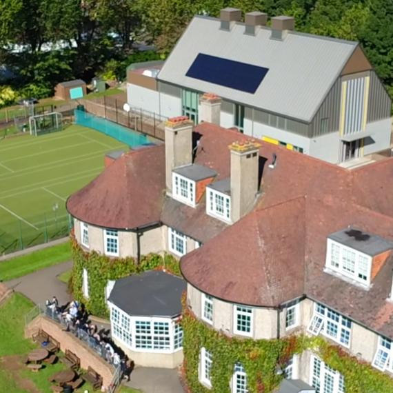Bird's Eye View of Lancing Prep Hove