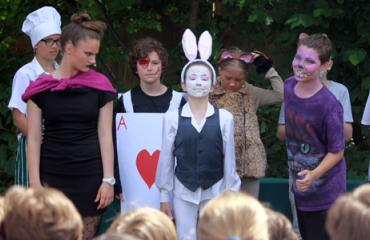 Lancing Prep Hove Years 7 and 8 perform Alice in Wonderland