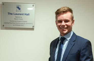 Mason Crane opens the new Laurent Hall