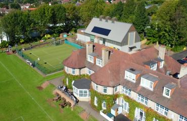 Drone flies over Lancing Prep Hove