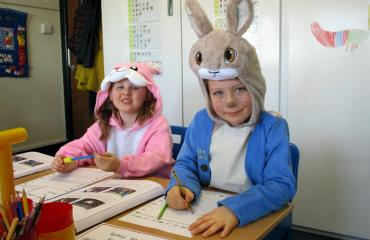 Lancing Prep Hove Reception class celebrating World Book Day