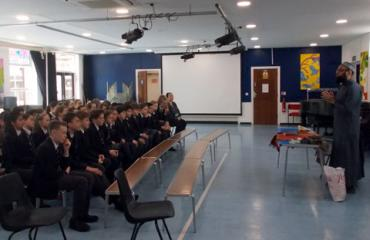 Imam Idris of the Worthing Mosque visits Lancing Prep Worthing