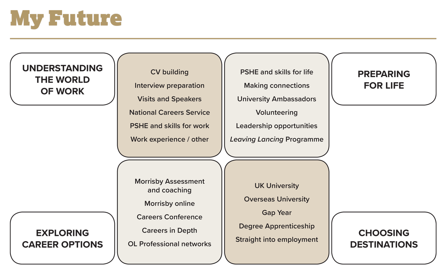 My Future programme infographic