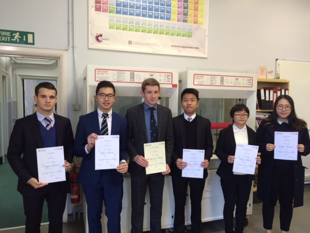 Lancing Chemistry Challenge Winners