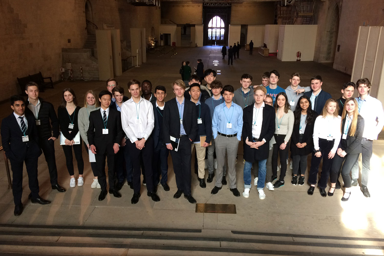 Lancing College pupils visit Westminster