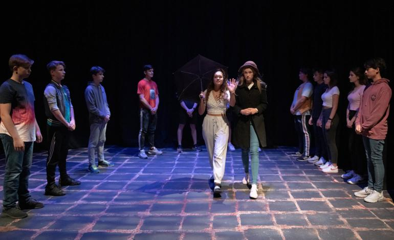 Lancing pupils performing in East End Tales
