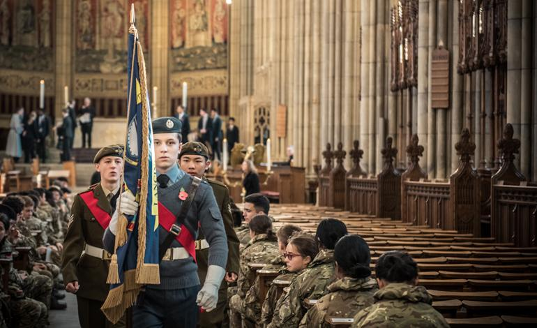 Remembrance Sunday service at Lancing College