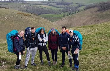 DofE expedition at Lancing College pupil group