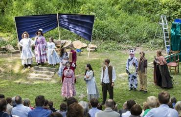 Pupils perform in the Open Air Theatre