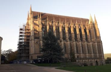 Lancing College Chapel at sunset