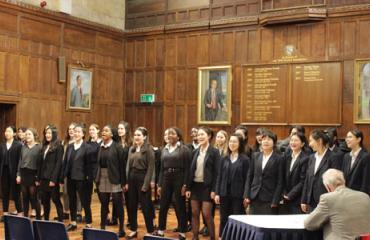 Girls' House wins House Choir competition at Lancing College
