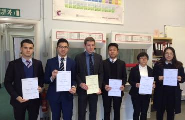 Lancing College Chemistry Challenge winners