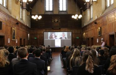 Lancing pupils attend climate change conference at the conference