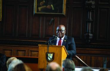 The President of Ghana at Lancing College