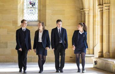 Lancing College pupils in Chapel