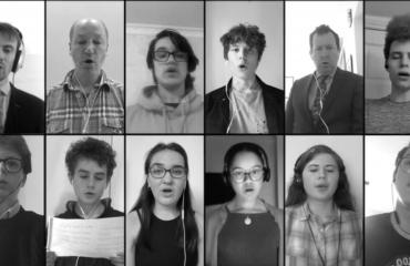 Lancing College Choir performed remotely during lockdown; their performances were recorded and shared online