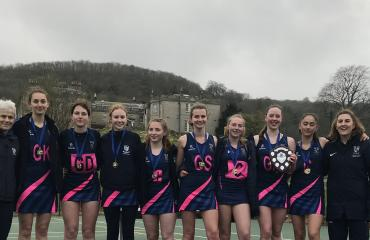 Netball players at Lancing College