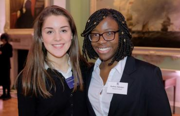 Paige Taylor and Eunice Adeoyo