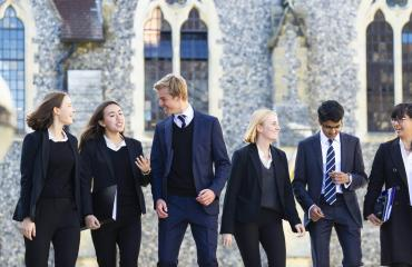 Sixth Form pupils at Lancing College