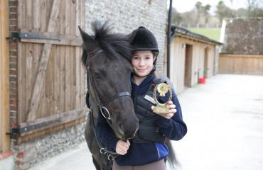 Sofia with horse