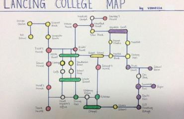Geography competition tasked students to draw a map of the College